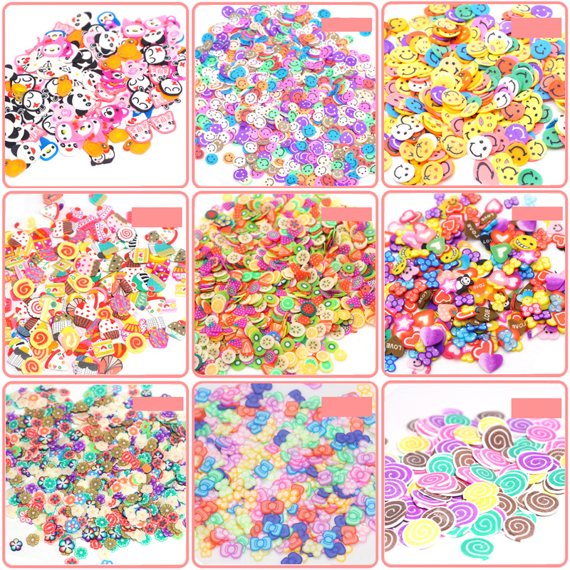 Fruit Fimo Bead Additives Charms For Slime Filler Soft Clay For Slime DIY Nail Mobile Beauty Powder In Slime Supplies Sprinkless
