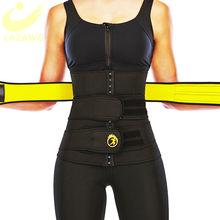 LAZAWG-moldeador de cintura de neopreno para sudar, adelgazante, Control del sudor, entrenador de cintura fuerte, doble cinturón