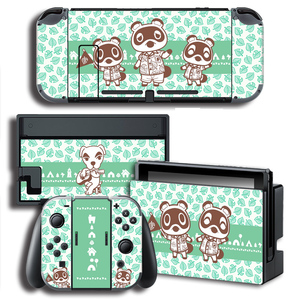 Image 4 - Vinyl Screen Skin Animal Crossing Protector Stickers for Nintendo Switch NS Console + Controller + Stand Holder Skins