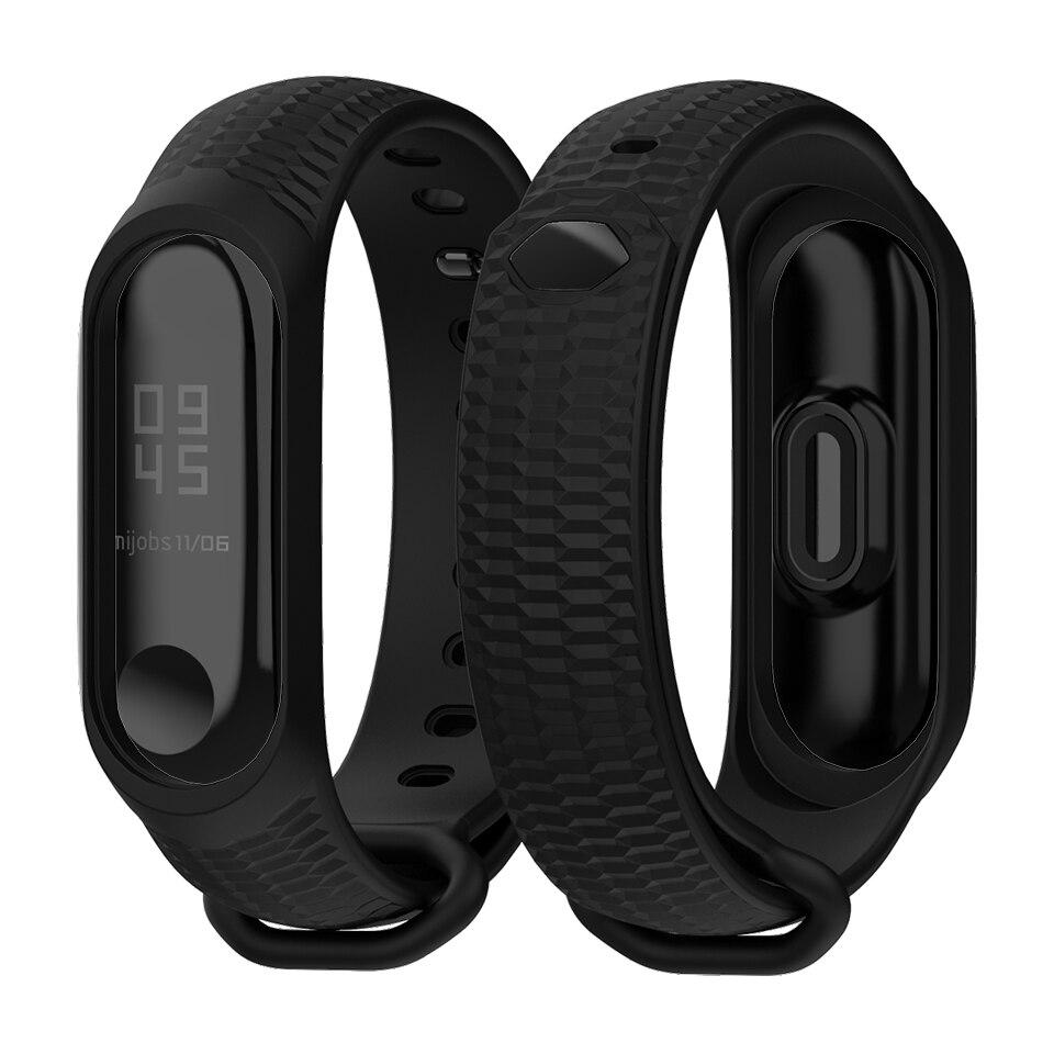 Mi Band 3 4 Strap Silicone Wrist Accessories for Xiaomi Mi Band 3 4 Smart Watch Sport Wristbands Miband 3 4 Band Bracelet in Smart Accessories from Consumer Electronics