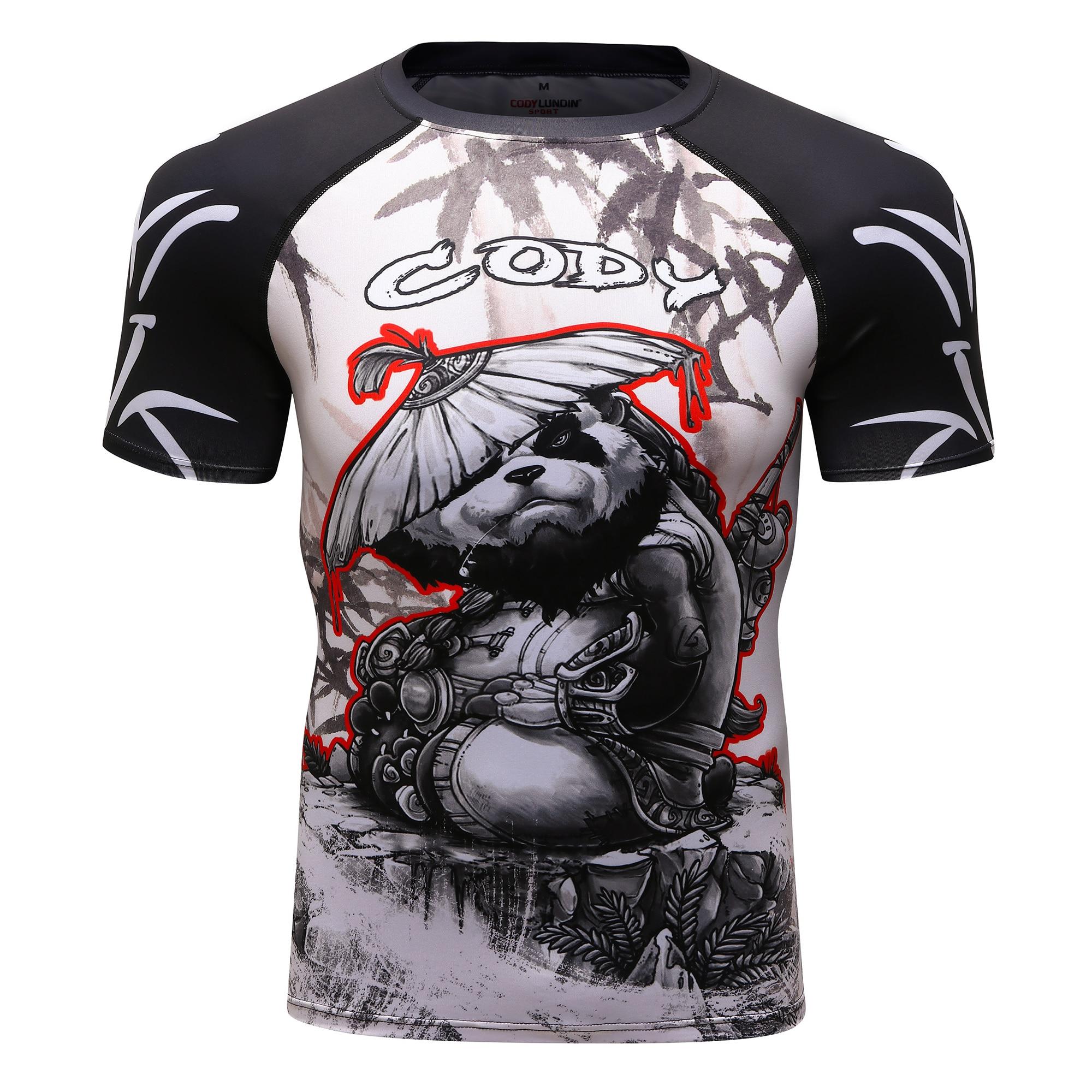 Rashguard Mma Boxing T Shirts Men BJJ Muay Thai Mma 3D Kickboxing Shirts Boxing Fights Boxing Tricks BJJ Gym Boxeo Men's T-Shirt
