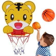 Детская баскетбольная рама для игры в помещении с изображением тигра, рама для стрельбы, детский подъемный висячий мяч, игрушка для стрельб...