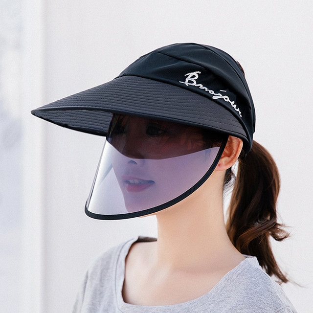 Hats For Women Anti Uv Protection Antifoam Outdoor Riding Face Sheild Plastic Solid Sun Visor Hat Visiera Protettiva Viso