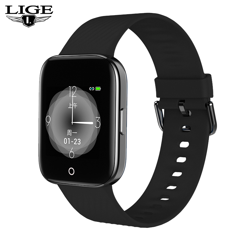 LIGE novo smart watch homens e mulheres IP68 Aptidão à prova d' água Rastreador Pulseira pedômetro atividade esporte para ios Android smartwatch