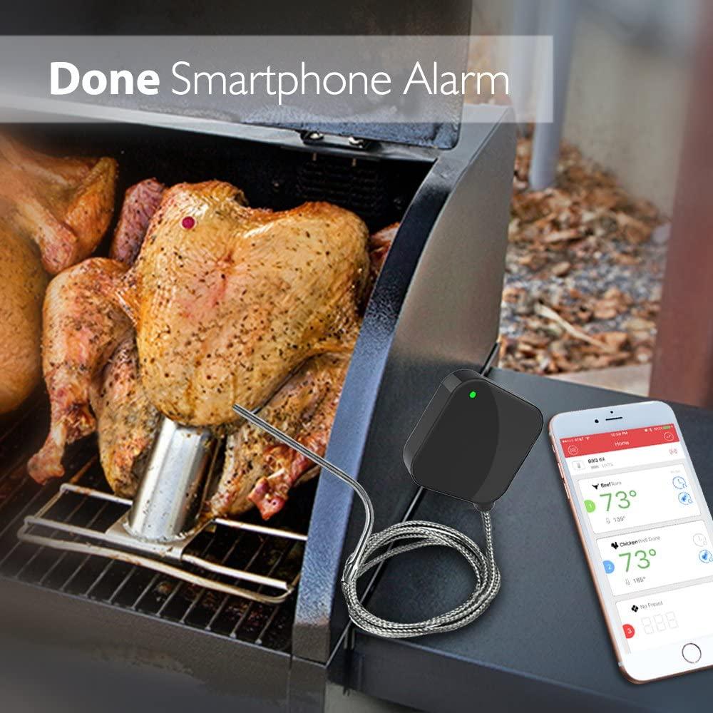 comida termômetro de carne com sonda para churrasco fumante grill forno