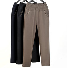 Зимние женские теплые брюки бархатные плотные для мам эластичные
