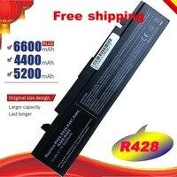 Новинка 5200 мАч для SAMSUNG NP-R519 R470 R428 Q320 R478 батарея R530 R522 R519 AA-PB9NC6B R520 Бесплатная доставка