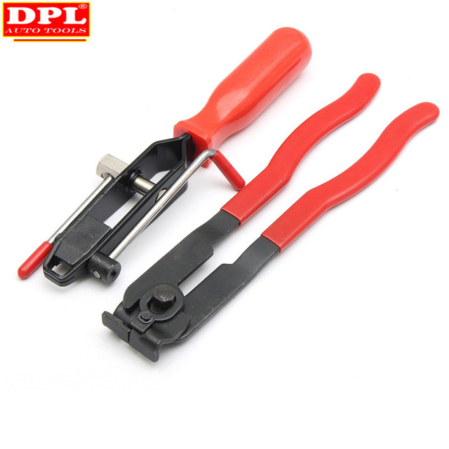 Pince de serrage à Joint métallique 2 CV, outil dinstallation de bande, Type doreille, pince de démarrage, outil manuel en métal rouge + noir