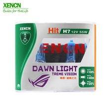 Xencn lâmpada de substituição para carros, lâmpada branca super brilhante h7 12v 55w 3800k, segunda geração, atualização para kia bmw audi toyota