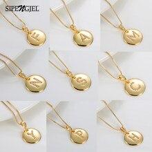 Nova moda zircão cúbico 26 carta inicial colar diy pingentes charme nome pessoal colar para mulheres boho jóias 2020