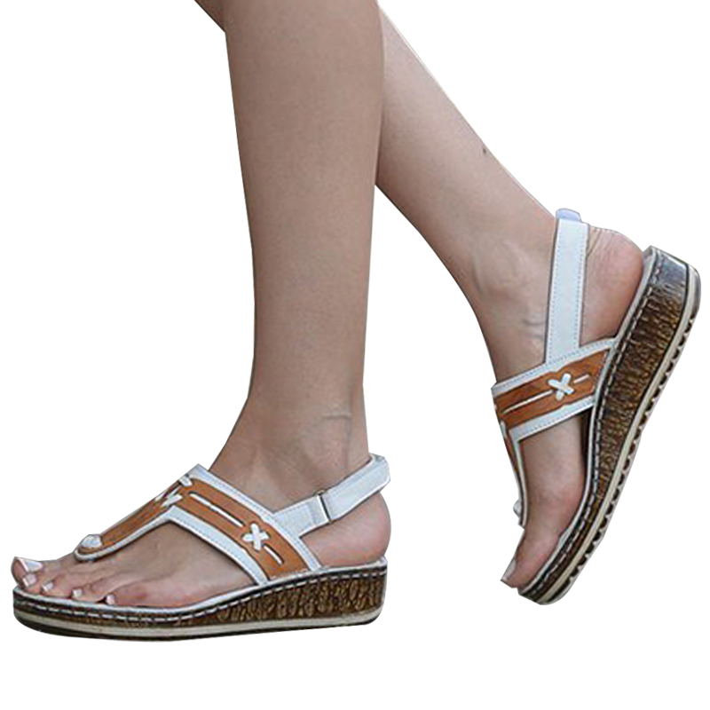 VICABO Summer Sandals Women's Shoes Fashion Casual Toe Wedges Patchwork Sandals Women Shoes For Women #w