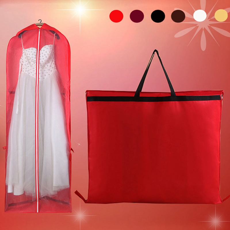 Large For Wedding Dress Dust Cover Zipper Gown Dustproof Cover Storage Bag Foldable Garment Clothes Case Protector