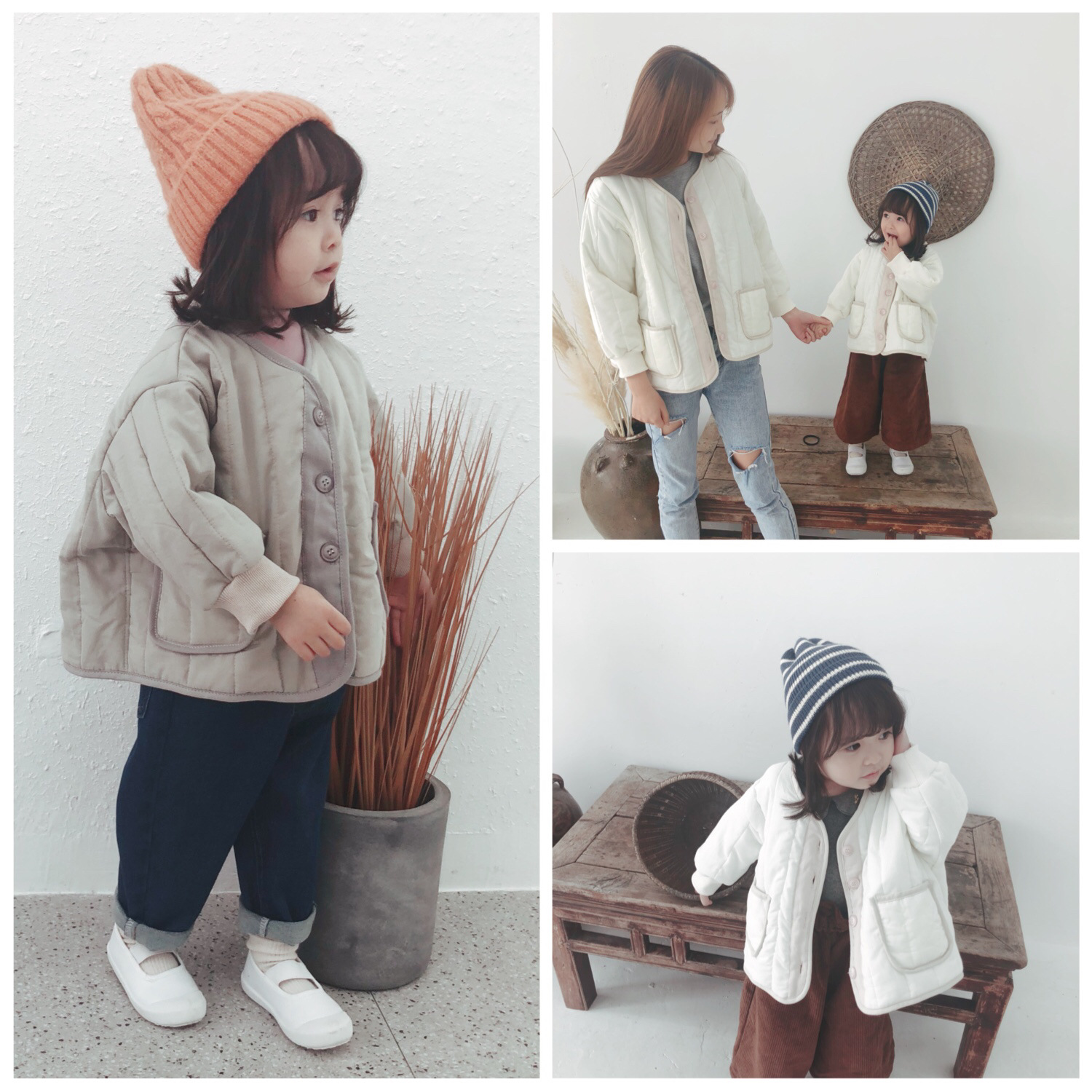 Girls Clothes 2019 Autumn and Winter New Children Long Sleeve Solid Color Causal Infant Coats Kids Cotton-padded Jacket Tops