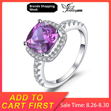 JewelryPalace Luxury 5.35ct Cushion Cut Created Alexandrite Sapphire Wedding Engagement Rings 925 Sterling Silver Fine Jewelry jewelrypalace elegant 2 43ct created alexandrite sapphire cubic zirconia halo adjustable bracelets for women 925 sterling silver