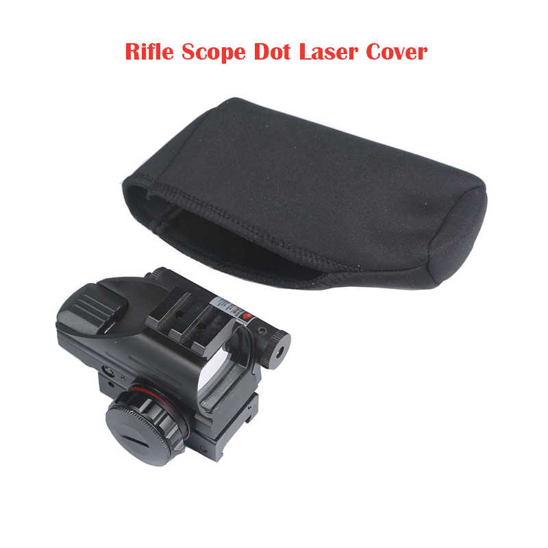 Zwart Rifle Scope Cover Case Grote 13cm Gun Rifle Jacht Accessoires Riflescope Neopreen Beschermen Scope Cover