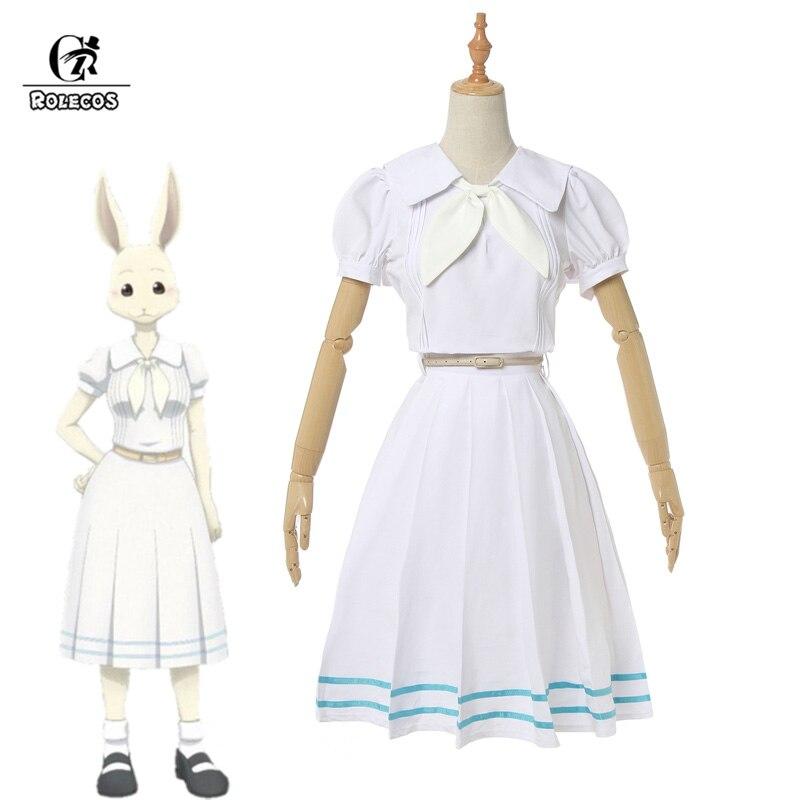 ROLECOS Anime Beastars Cosplay Costume Haru Cosplay Women School Uniform Costume Rabbit Girl Japanese Uniform Outfit