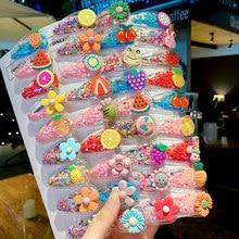 Épingles à cheveux pour filles 10/20, épingles à cheveux en fleurs colorées de dessin animé pour enfants, ornement de bandeau, pinces à cheveux, accessoires de mode
