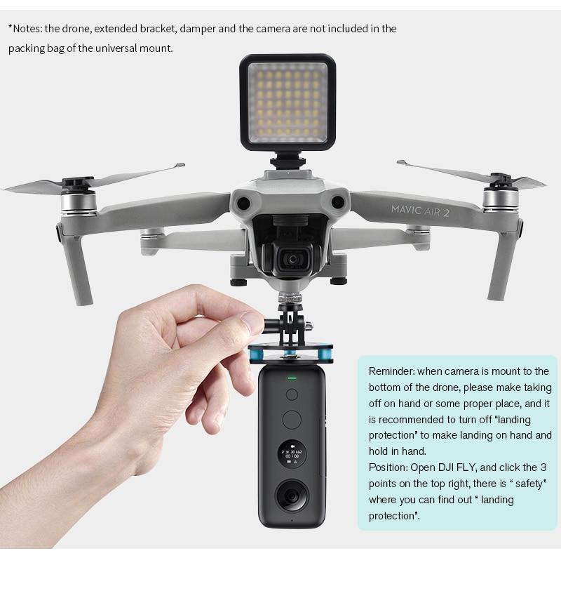 Für GoPro8 und andere Kameras Halterung Expansion Bracket für DJI Mavic Air 2
