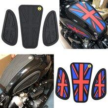 Dla Triumph Retro motocykl Cafe Racer zbiornik paliwa gazowego gumowa naklejka Protector płaszcza kolana zbiornik pad Grip naklejka dla T120 T100