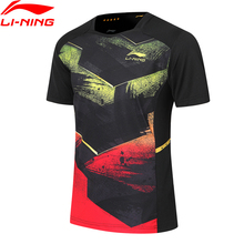 Li-Ning Men Table Tennis Competition T-Shirts Top Breathable Comfort Regular Fit LiNing li ning Sports Tee AAYP349 MTS3150 cheap AAYP349 19Q4 Fits true to size take your normal size