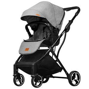 Image 1 - 2019 novo confortável de duas vias cor pura carrinho de bebê simples pára sol dobrável carrinho de bebê