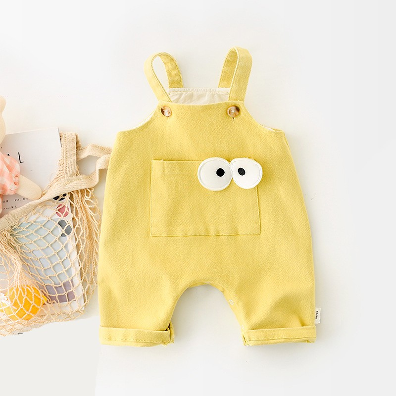 Paoke2021 spring and summer new boys' and girls' suspenders baby creeper newborn pants