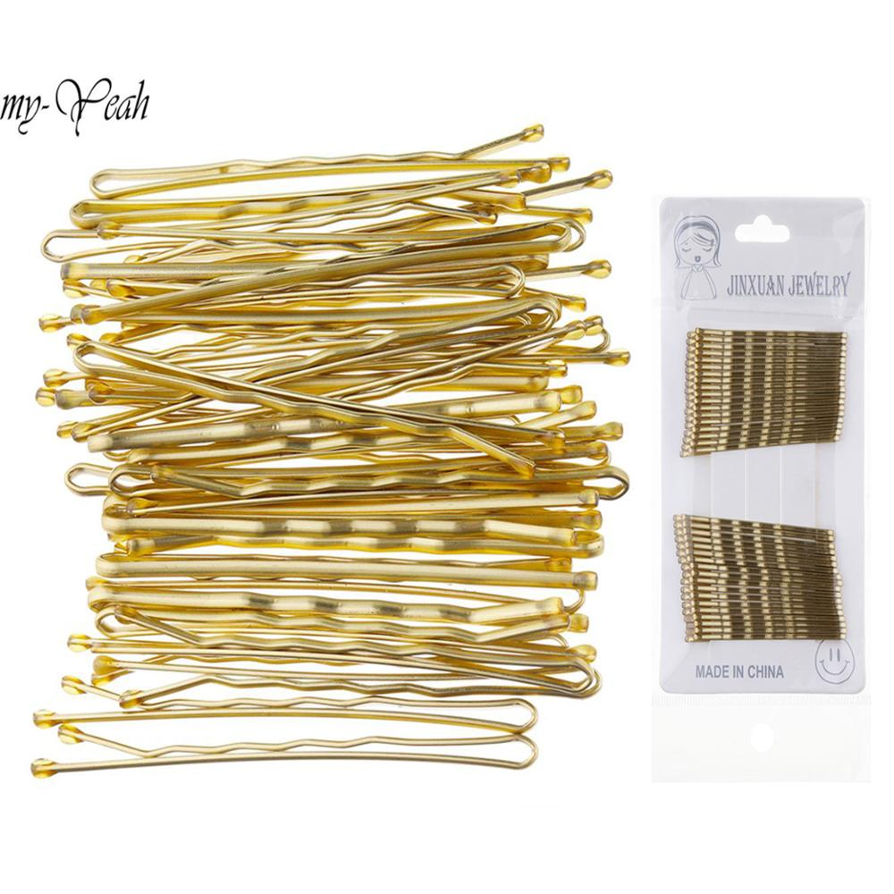 36Pcs/set Black Gold Hair Clip Women Lady Girls Bobby Pins Invisible Wave Shape Hairpins Hair Styling Tool Accessories