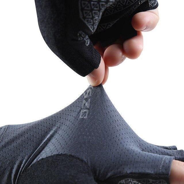 Verão luvas de ciclismo mtb sem dedos da bicicleta das mulheres dos homens ao ar livre luvas de malha de proteção da bicicleta esportes preto fino luva de equitação 2