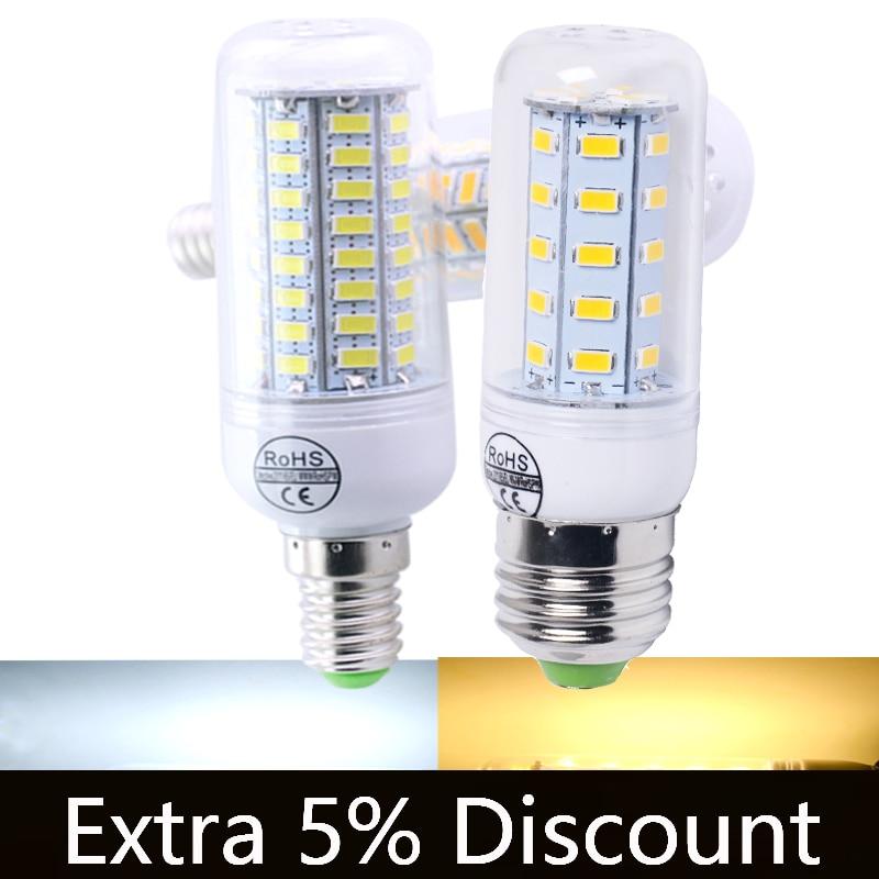 110V 220V Led Corn Bulb Light 5730 E27 Chandelier Candle LED Light E14 Led Bulb Lamp Corn For Home Decoration Ampoule