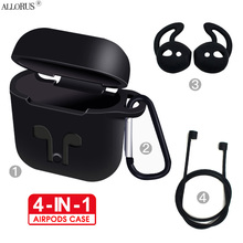4-IN-1 funda,capa,cases for Airpods1 2nd Mini Silicone Natural Color for airpod case Soft Headphones Case Kits for airpods cover