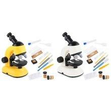 Детский набор биологического микроскопа лабораторная Светодиодная