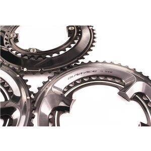 Image 5 - シマノ硬膜エース R9100 11 スピード黒 chairing バイク自転車 110BCD 50 34 t/52 36 t /53 39t R9100 クランクセットロードバイクアクセサリー
