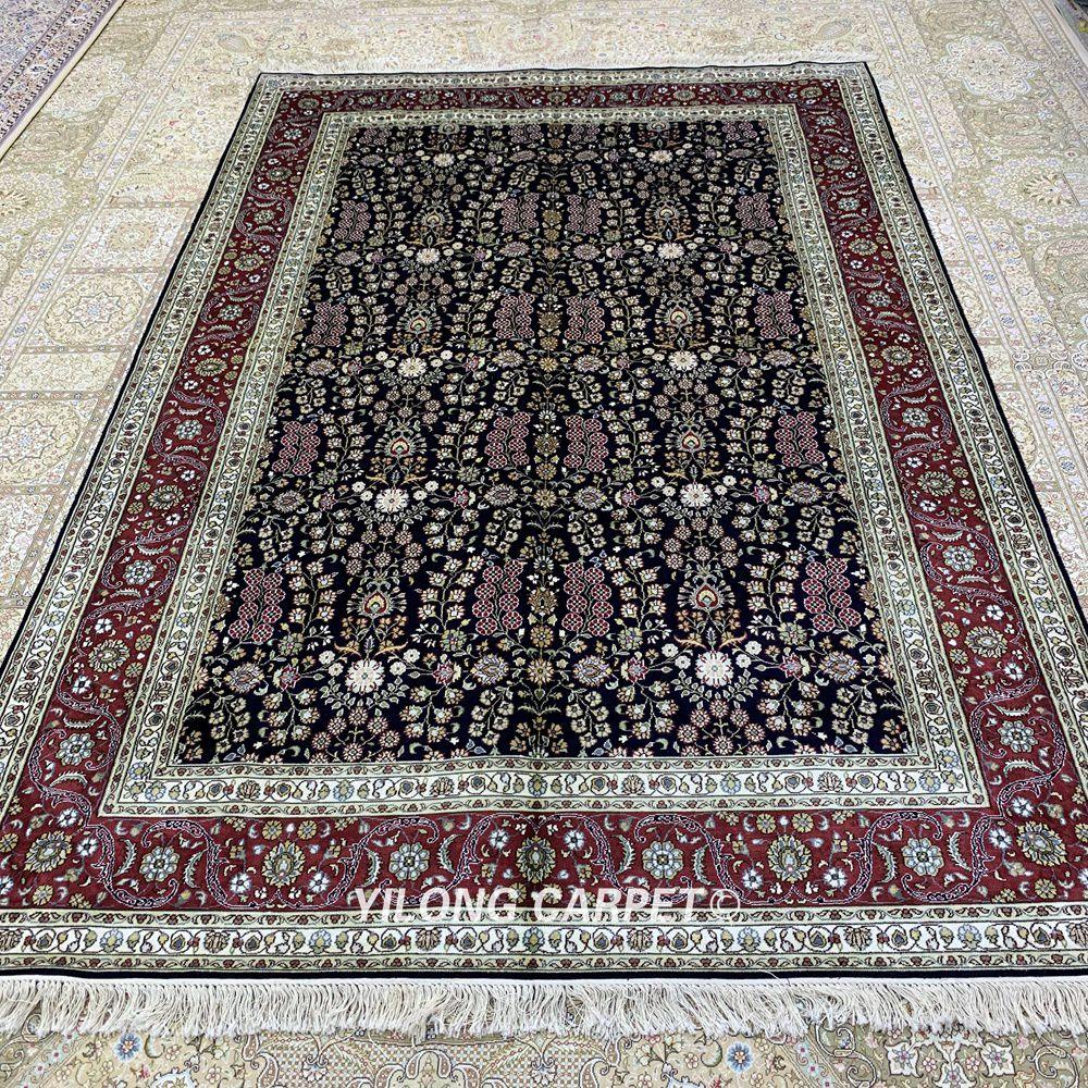 Yilong 5.5'x8 antik buatan tangan karpet, Tangan diikat diskon karpet - Tekstil rumah - Foto 2