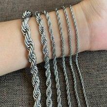 Colliers chaînes en acier inoxydable pour femmes et hommes, bijoux Hip Hop de haute qualité de 2MM à 8MM