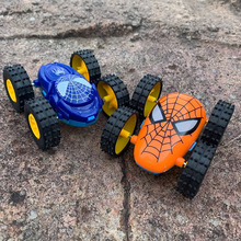 2021 NEW Spider Stunt Dump Truck Inertial Car 360 Degree Double-Sided Roll Vehicle Toy Gift For Children Boy