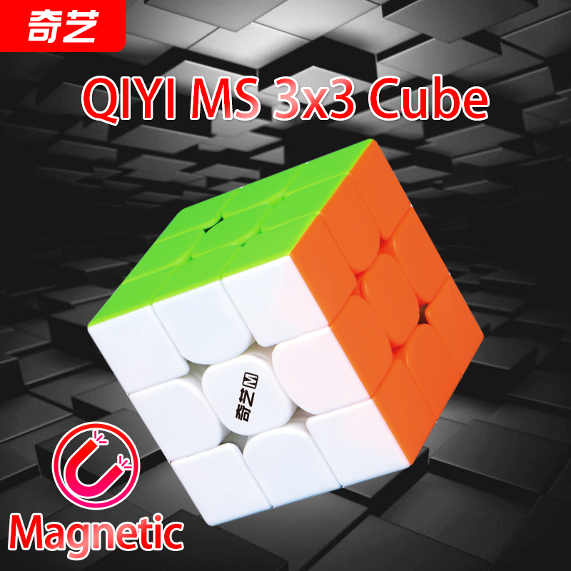 QiYi MoFangGe Qiyi MS Series 3x3x3 Magnetic Magic Cube Professional Cube Puzzle Stickerless Magnets Qiyi M S 3x3 Speed Cube