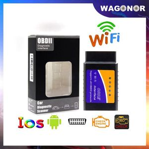 Image 1 - Herramienta de diagnóstico de coche, accesorio OBD2 ELM327 Wifi V1.5 OBDII Auto escáner ELM 327 Bluetooth/WiFi V1.5 OBD 2, lector de código para Android/IOS/PC