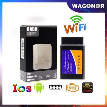 OBD2 ELM327 Wifi V1.5 OBDII Auto Scanner ELM 327 Bluetooth/WiFi V1.5 OBD 2 Car Diagnostic Tool For Android/IOS/PC Code Reader image