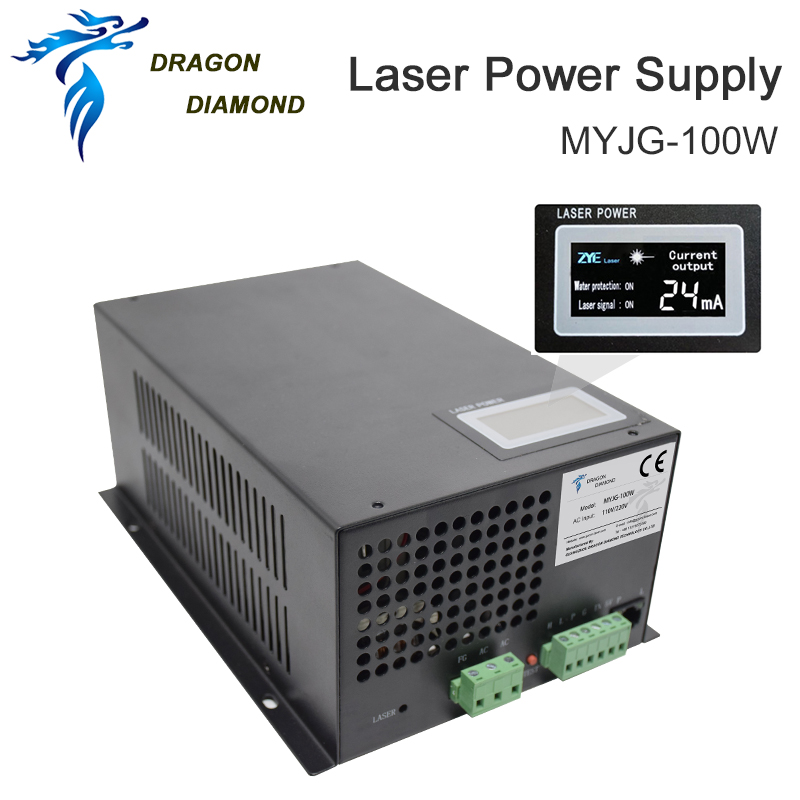 DRAGON DIAMOND 80-100W CO2 Laser Power Supply For CO2 Laser Engraving Cutting Machine MYJG-100W Category