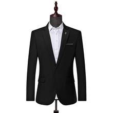 2019 New Style Youth Small Suit Solid Color Casual Fashion Suit