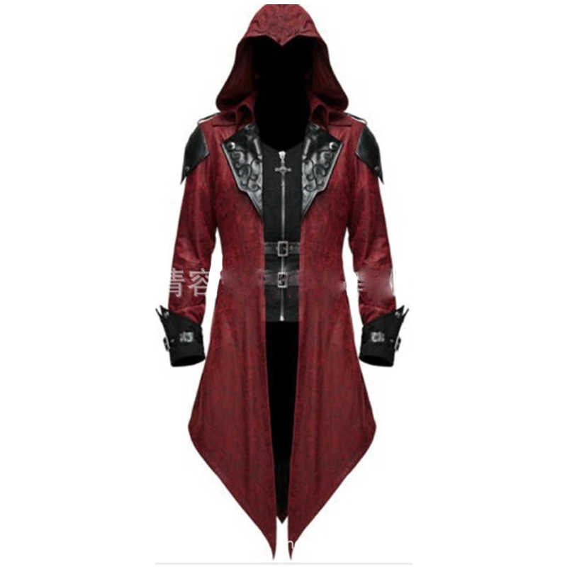 Assassin S Creed Cosplay Adult Man Woman Streetwear Hooded Pu
