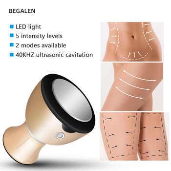 Handheld 40KHz Ultrasonic Cavitation Machine Home Use Fat Burner Weight Loss Anti Cellulite Body Slimming Shape Beauty Device