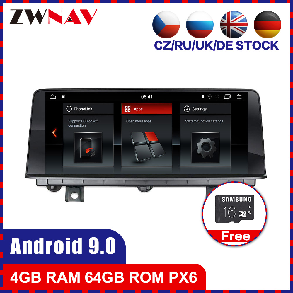 PX6 4+64 Android 9.0 Car multimedia Player For BMW 1 F20 F21 2011-2016 For BMW 2 F22 F23 Cabrio 2013-2016 Radio stereo Head unit image