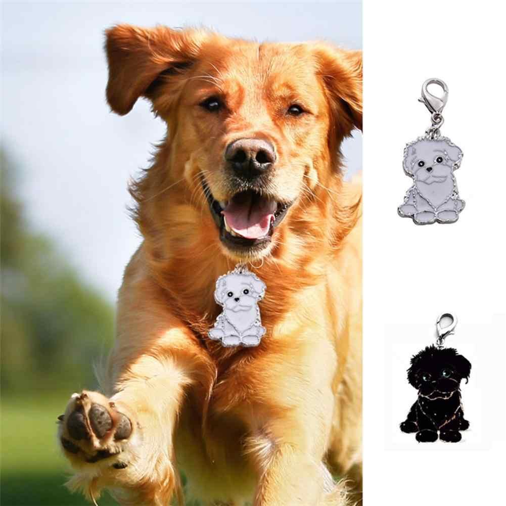 متوسطة وكبيرة الكلب بطاقة الهوية الكلب ميدالية معدنية قلادة الحيوانات الأليفة مكافحة خسر Bichon فريز الكلب العلامة