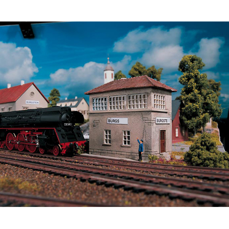 Miniature Model  1:87  HO Ratio  Railway Station Signal Tower 61822  Urban Building Model  Building Model Of Train Sand Table