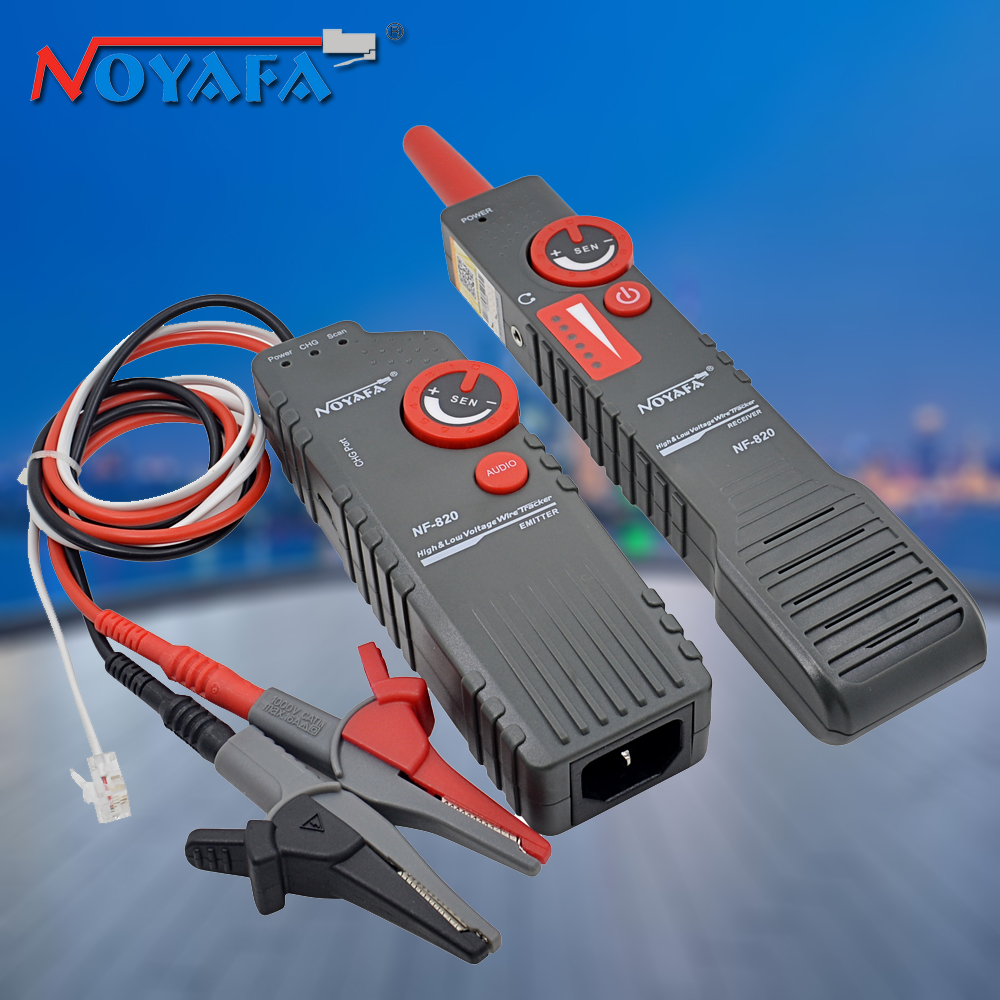 Noyafa NF-820 RJ45 RJ11 Lan Tester High Low Voltage Anti-Interference Underground Wire Tracker Network Cable Tester Tool Kit