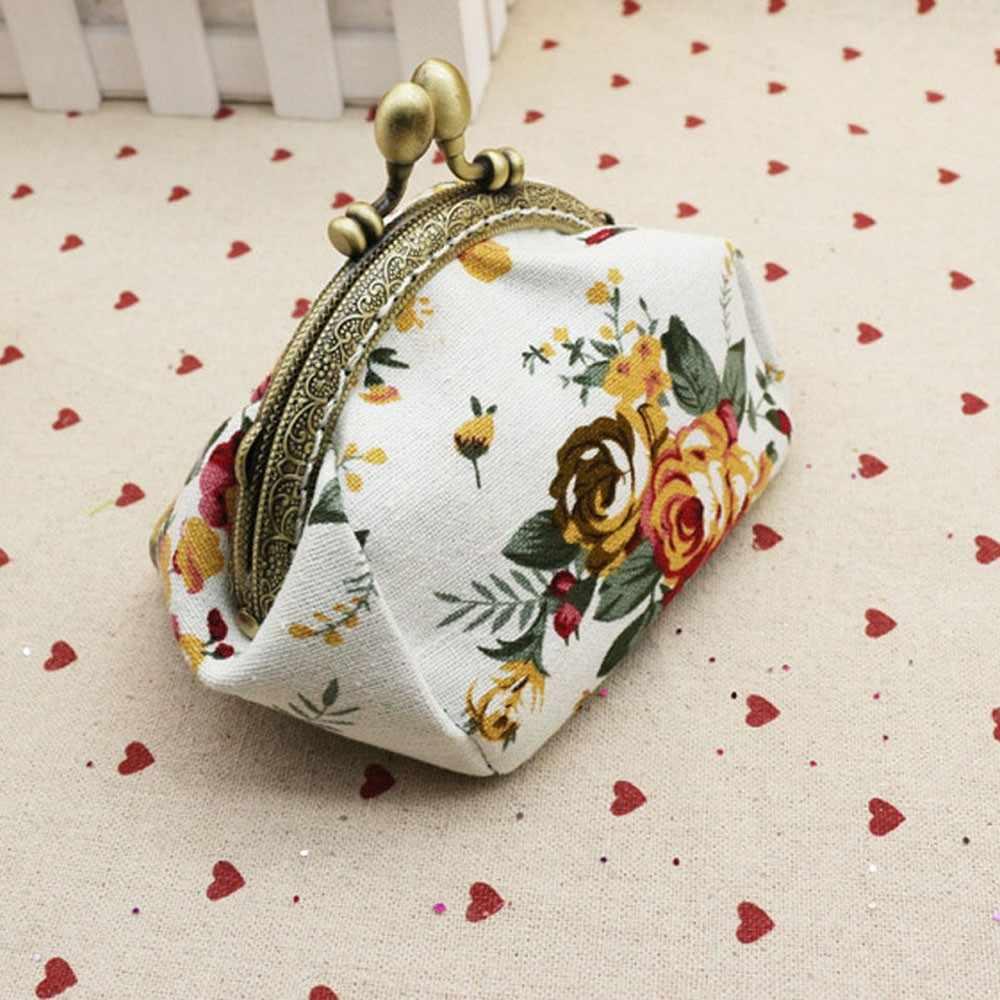 Women Lady Retro Vintage Flower Small Wallet Hasp Purse Clutch Bag Mini Money key holder coin purseporte monnaie femme