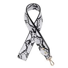 Fashion PU Leather Snake Belt Bags Strap Accessories for Women Adjustable Shoulder Handbag Decorative Bag