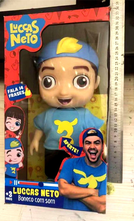 hot 25cm Cute Luccas Neto Doll Action Figure Toys Vinyl Model Doll with Sound Children Birthday Christmas Gift