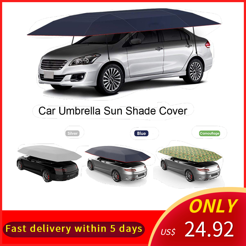 KKMOON Cover Tent Car-Umbrella Polyester-Covers Sun-Shade Vehicle Oxford Outdoor Portable